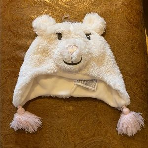 Baby gap teddy bear hat NWT